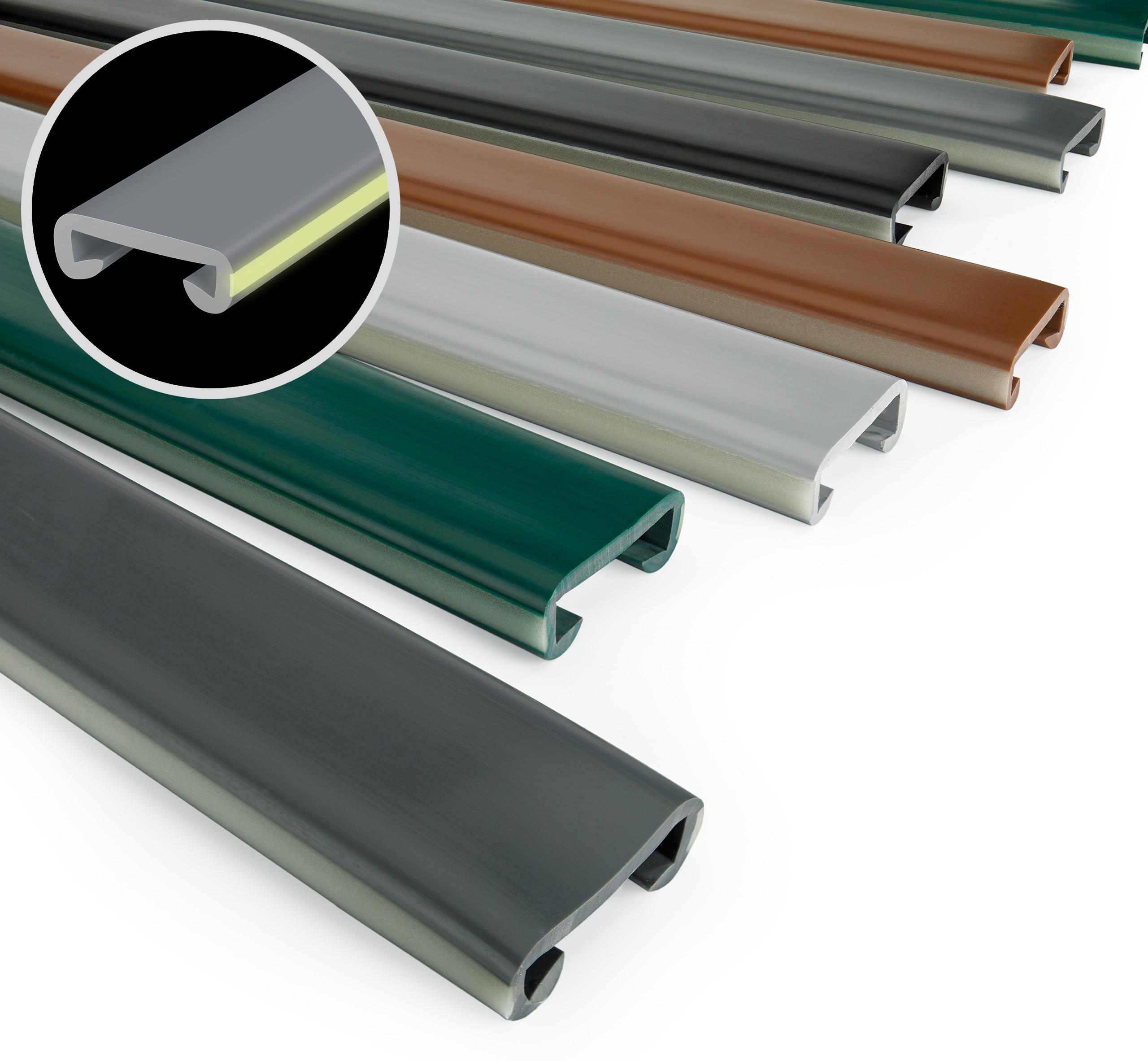 Main Courante PVC Alu Escalier  Fluorescent Couvrir Profil Rampe QUEST®