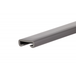 PVC premium handrail, 35x8mm, dark grey