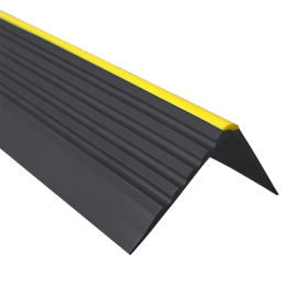 Anti-slip stair profile, RD-ON, warning 55x40mm black 150cm