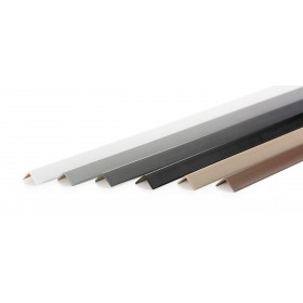 Corner trim small angle PVC 27x27mm, dark grey, 150cm