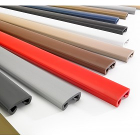 PVC handrail PREMIUM, railing 40x8mm red