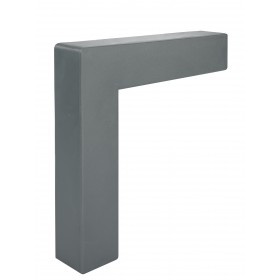 Angular external element Z1, dark gray